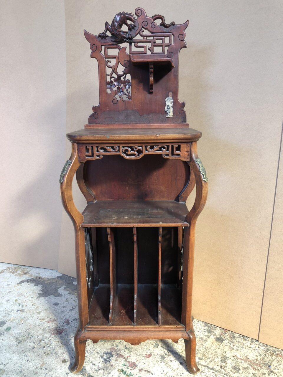 Антикварная мебель: полка из красного дерева 181023003У
