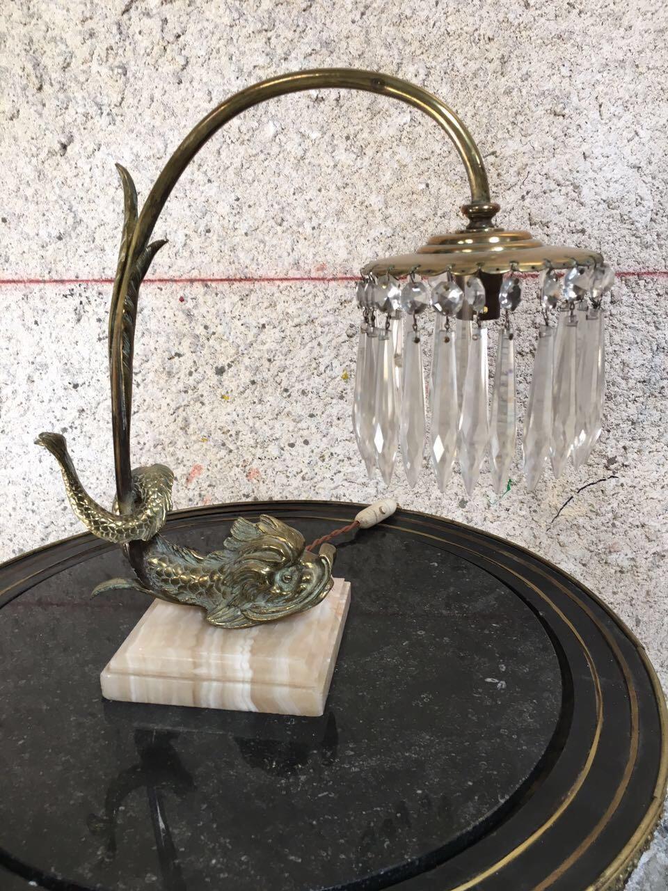 Антикварная бронзовая лампа на мраморном цоколе 181214062