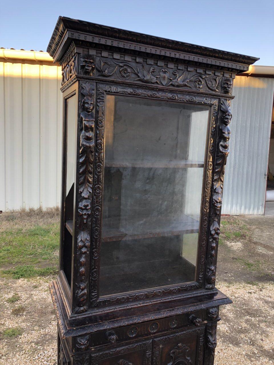 Антикварный буфет/витрина в стиле Ренессанс 181222007