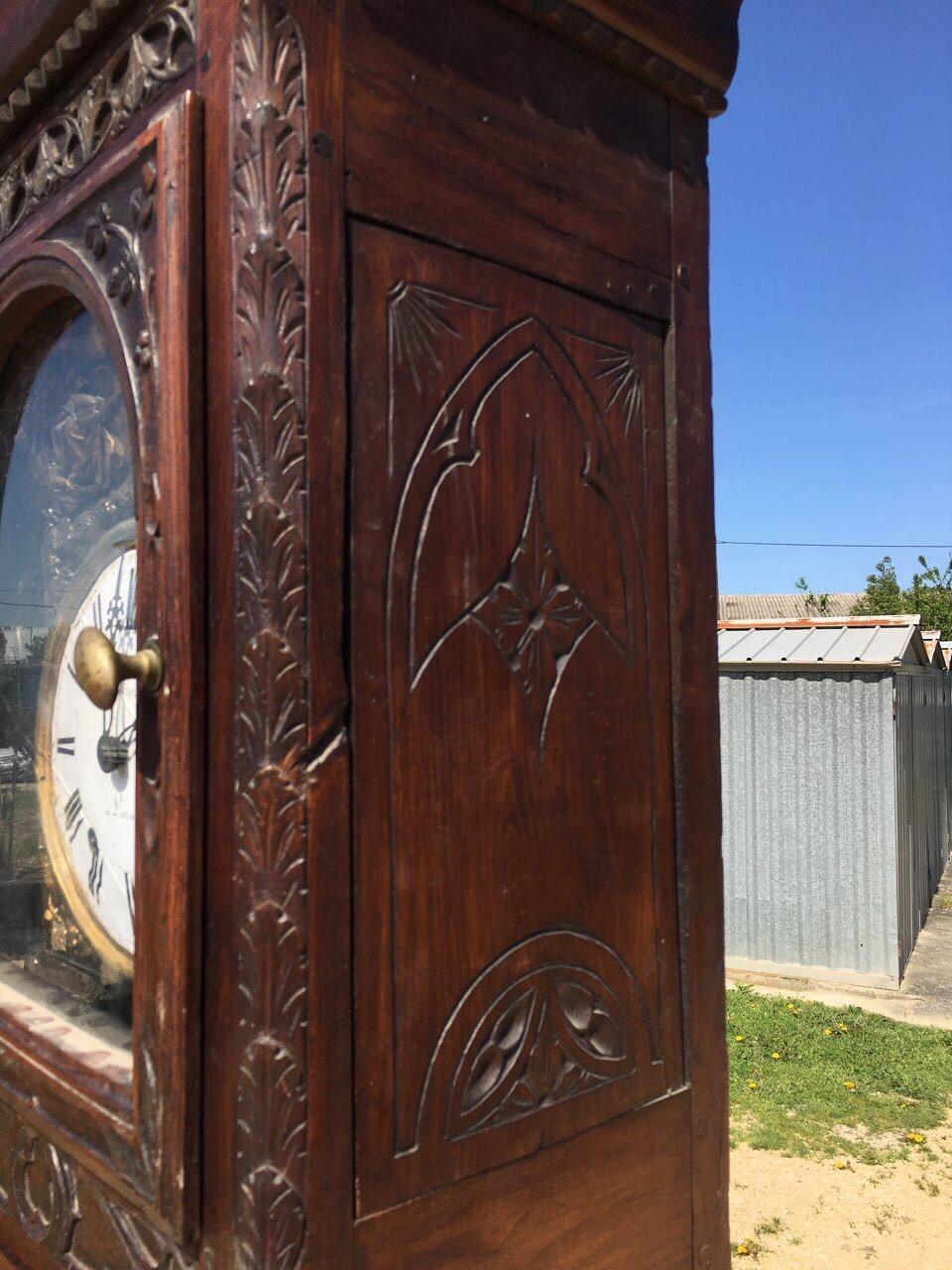 Антикварные напольные часы в стиле Готика 180425004