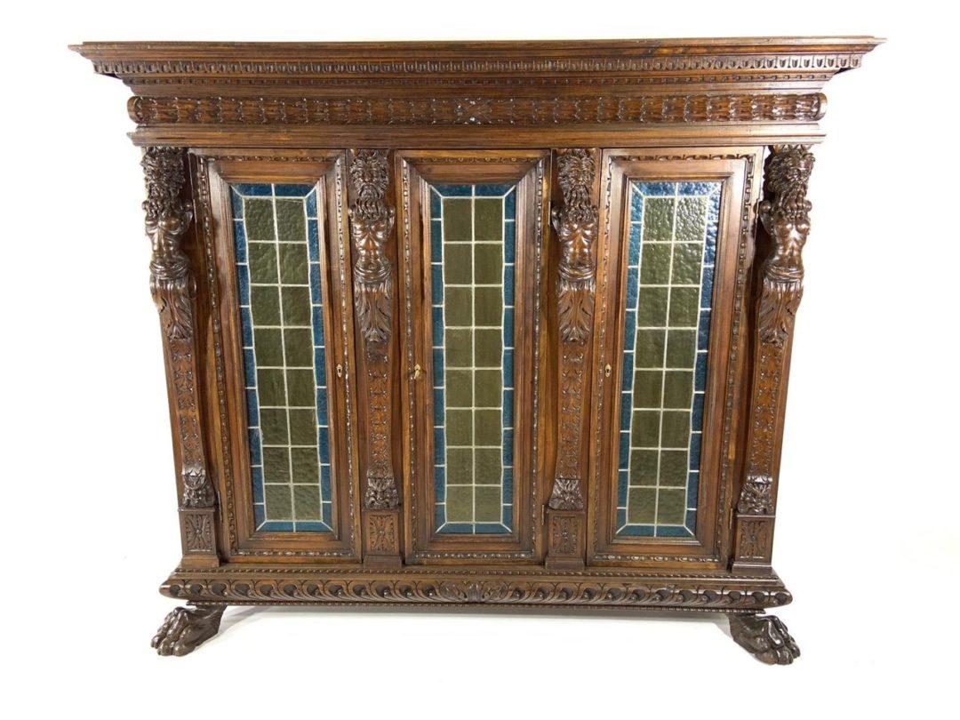 Антикварная библиотека с витражами в стиле Ренессанс 1901030041