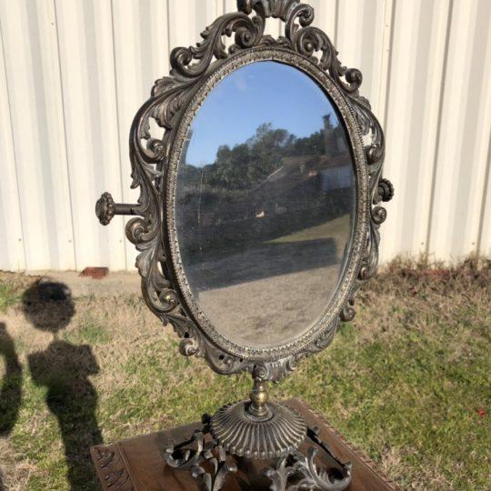 Винтажное зеркало на ножке 190104060