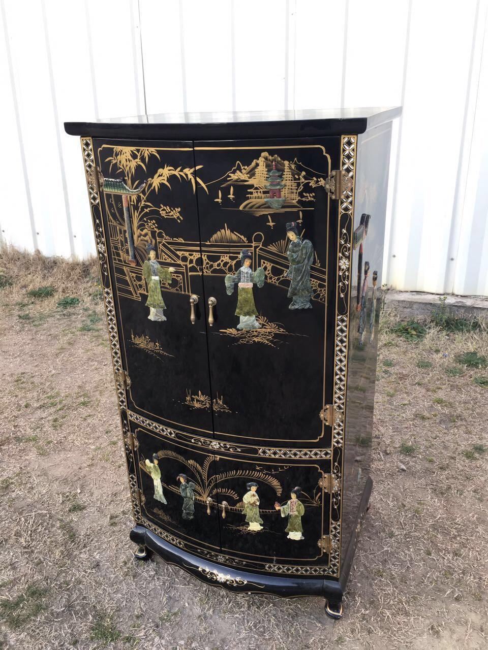 Винтажный шкафчик в стиле Шинуазри 190304005