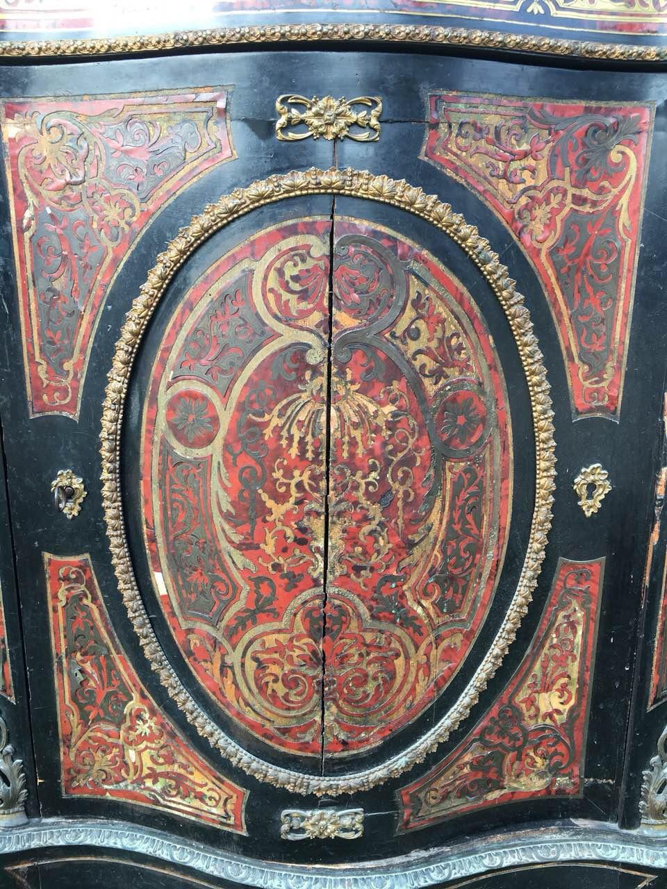 Антикварный комод в стиле Буль 180725002