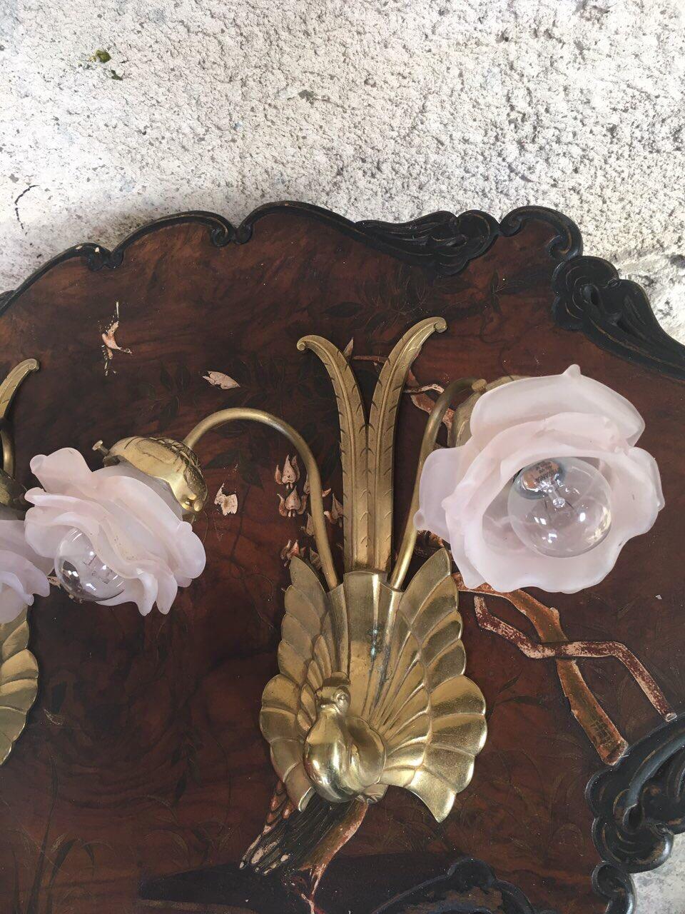 Антикварная пара бронзовых бра 180929051