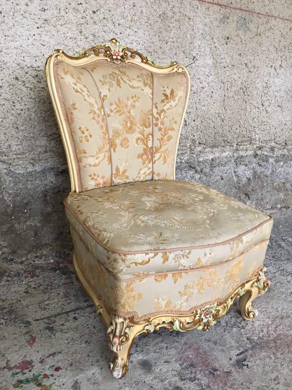 Винтажное дамское кресло в стиле Барокко 181213001