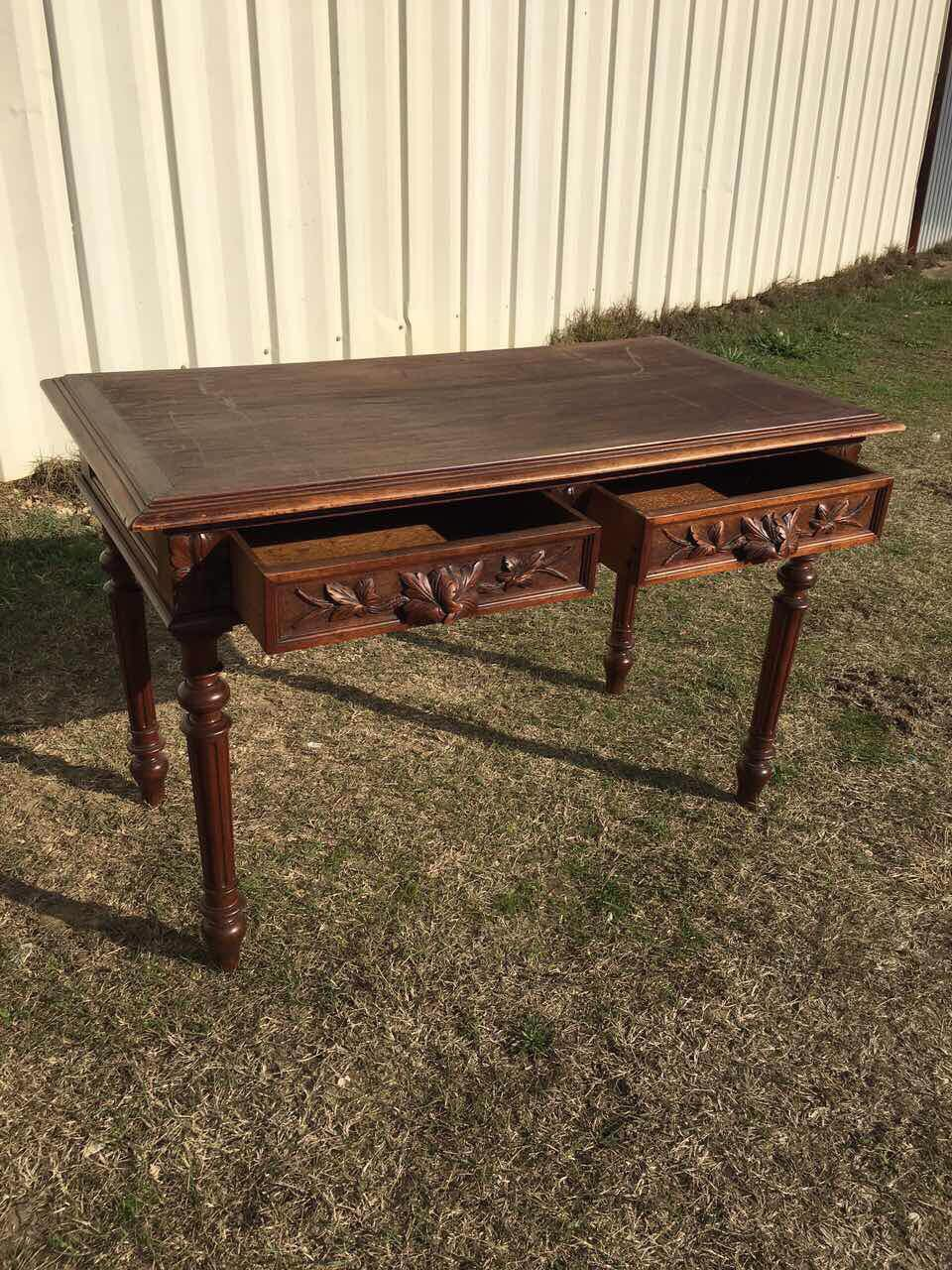 Антикварный дубовый столик 181117002
