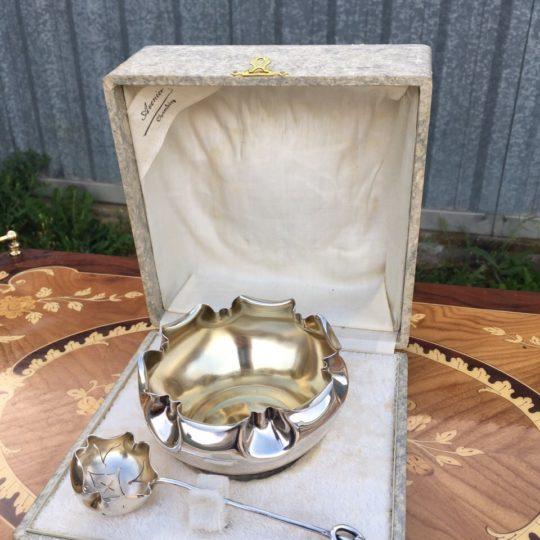 Винтажная посеребрённая ваза для варенья 180508030