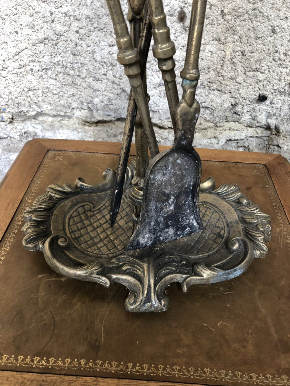 Винтажные бронзовые принадлежности для камина 181024080
