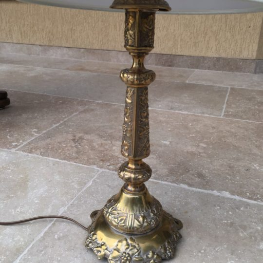 Бронзовая лампа для прикроватной тумбочки 180604020
