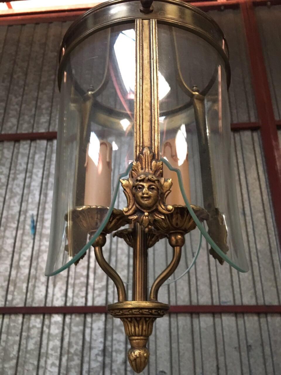 Винтажная пара фонарей в бронзовой оправе 190223063