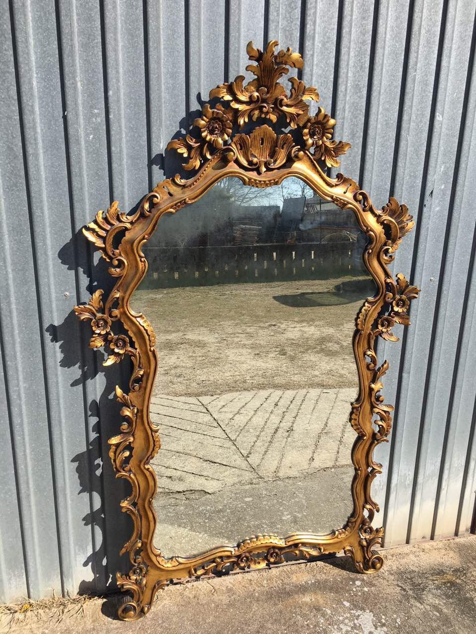 Винтажное деревянное зеркало в стиле Барокко 190304003