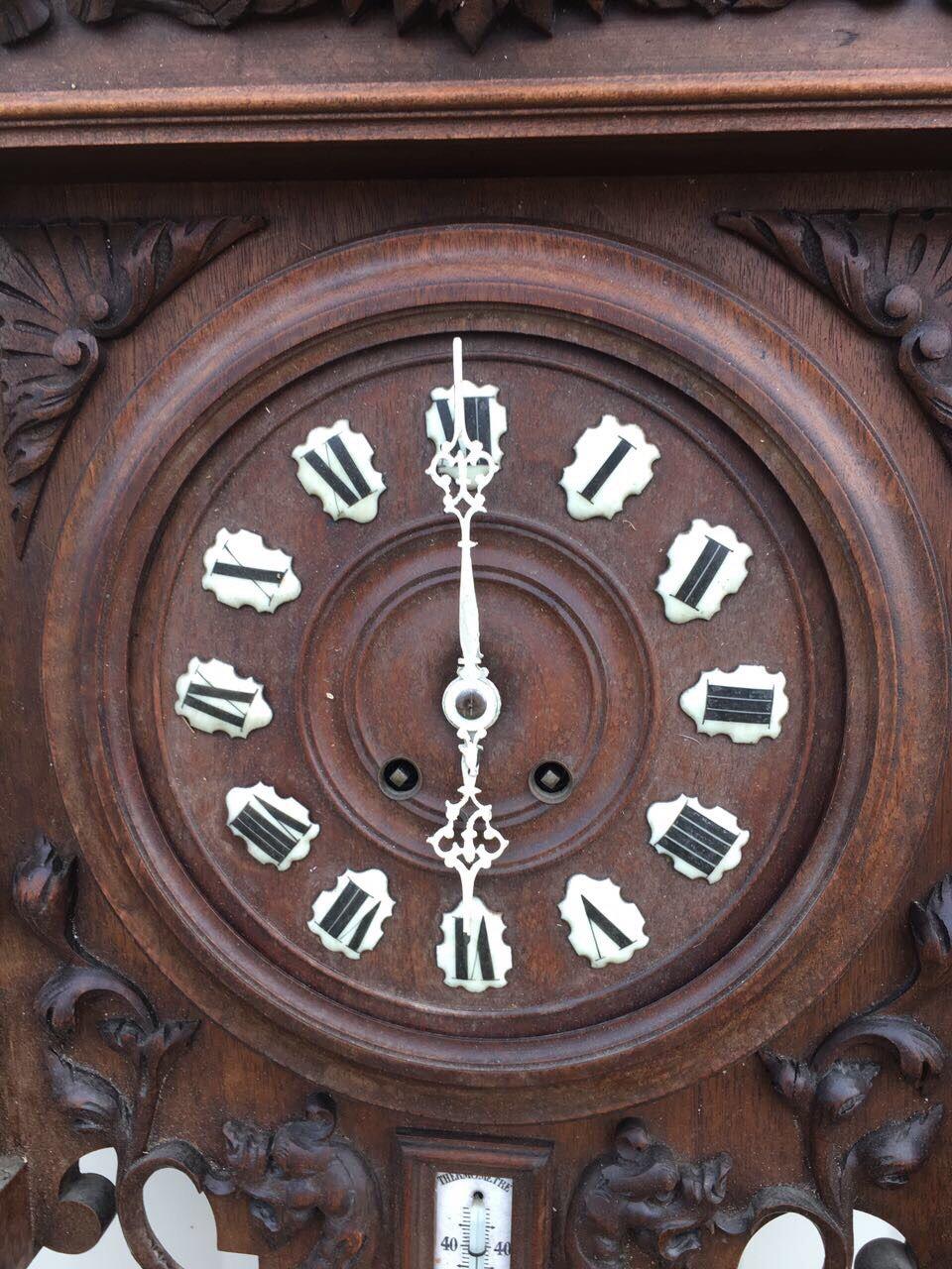 Антикварные ореховые часы 181205001
