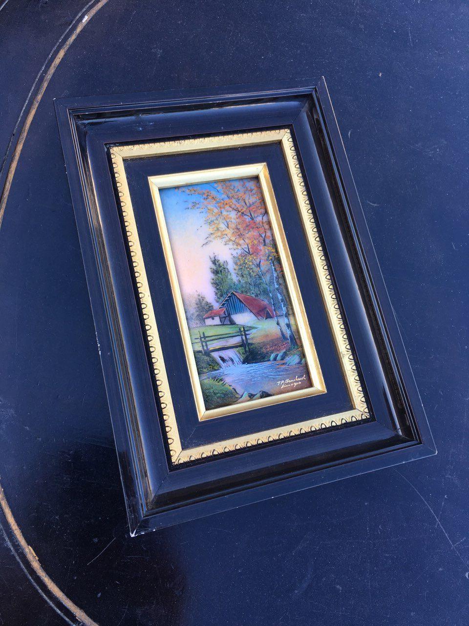 Винтажная эмалированная картина 18032404