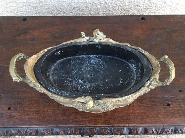 Антикварная бронзовая жардиньера 180626001