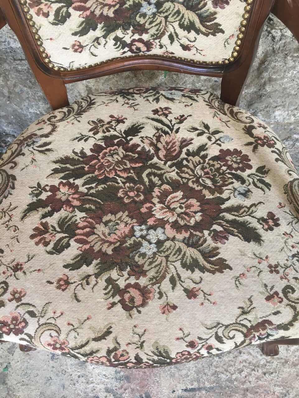 Антикварная мебель: пара кресел с гобеленом 181103001
