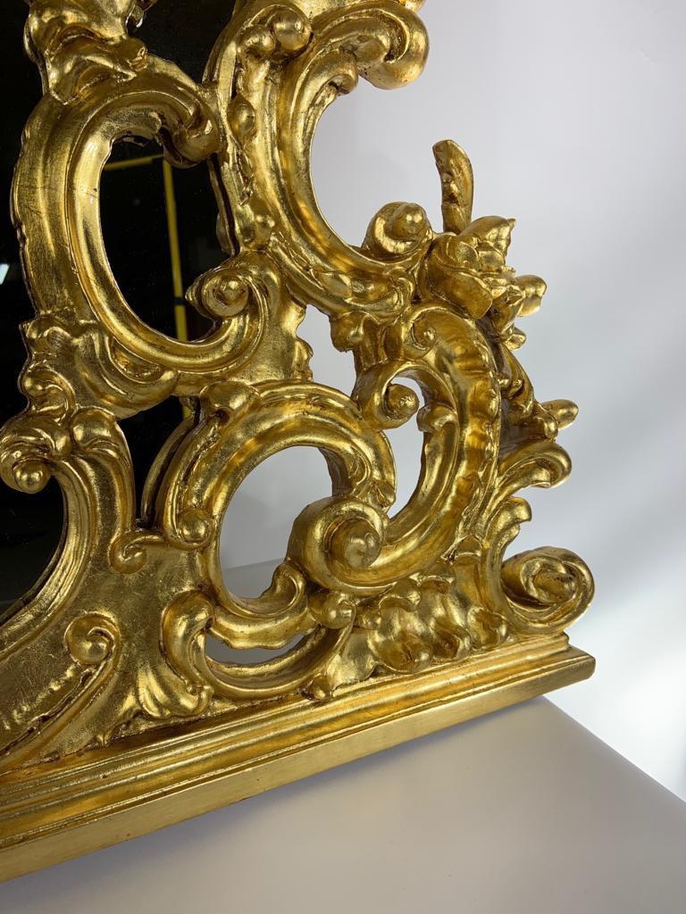 Антикварное зеркало в позолоте в стиле Барокко 181117004