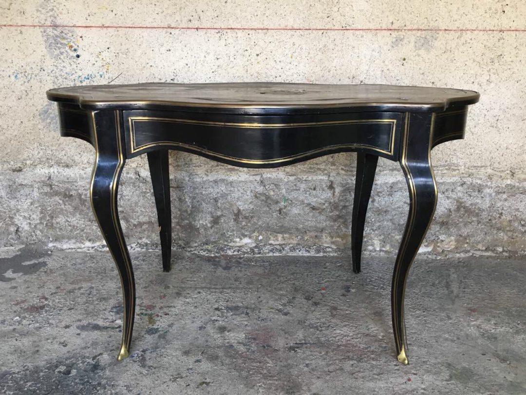 Антикварный стол в стиле Буль 180830005