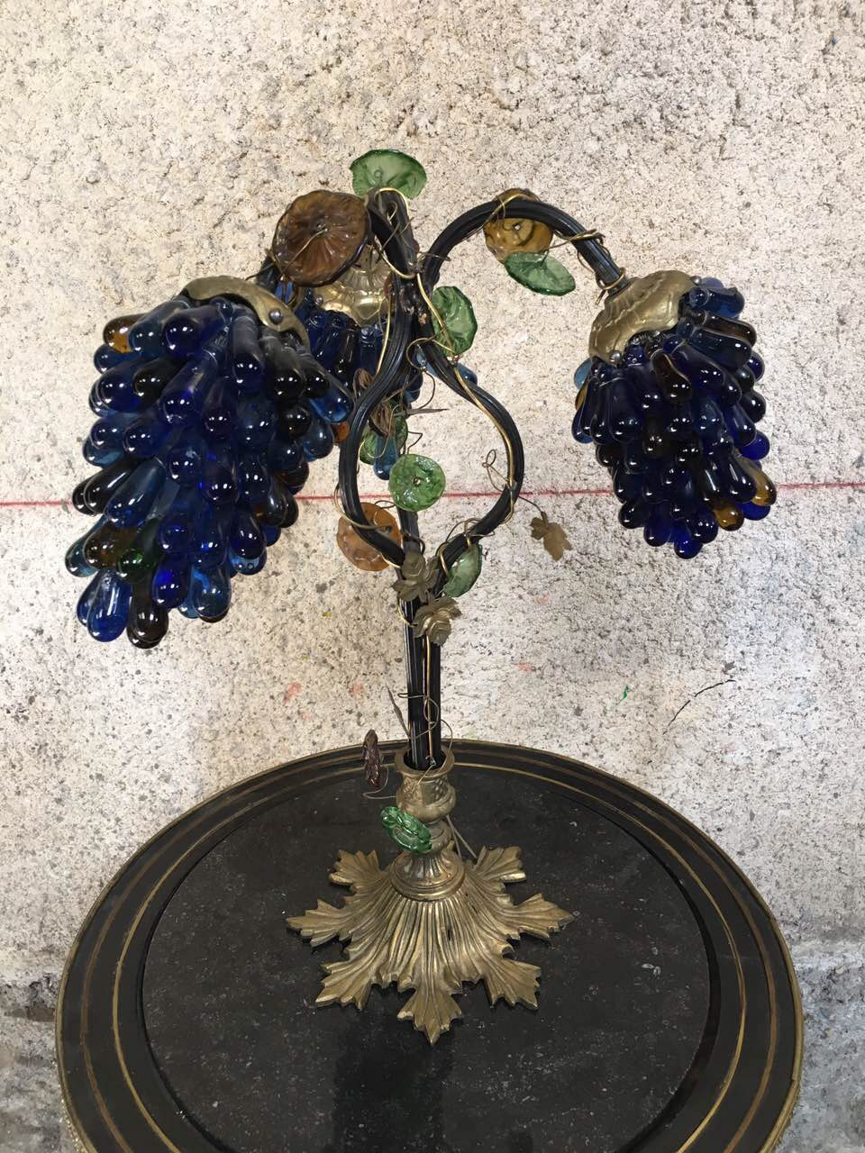 Антикварная бронзовая лампа 181214003