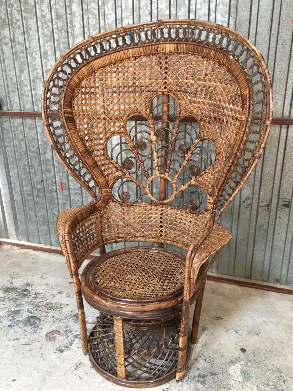 Винтажное кресло из ротанга в стиле Эммануэль 190501004