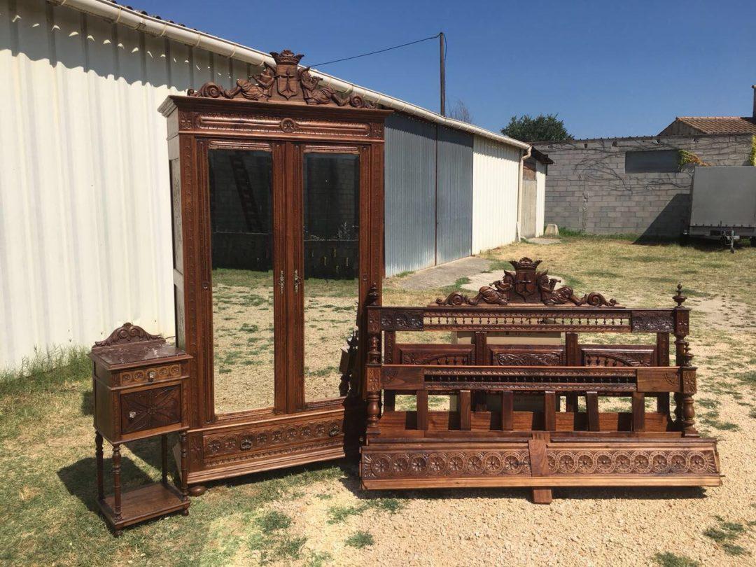 Антикварный спальный гарнитур в стиле Бретон 180726004