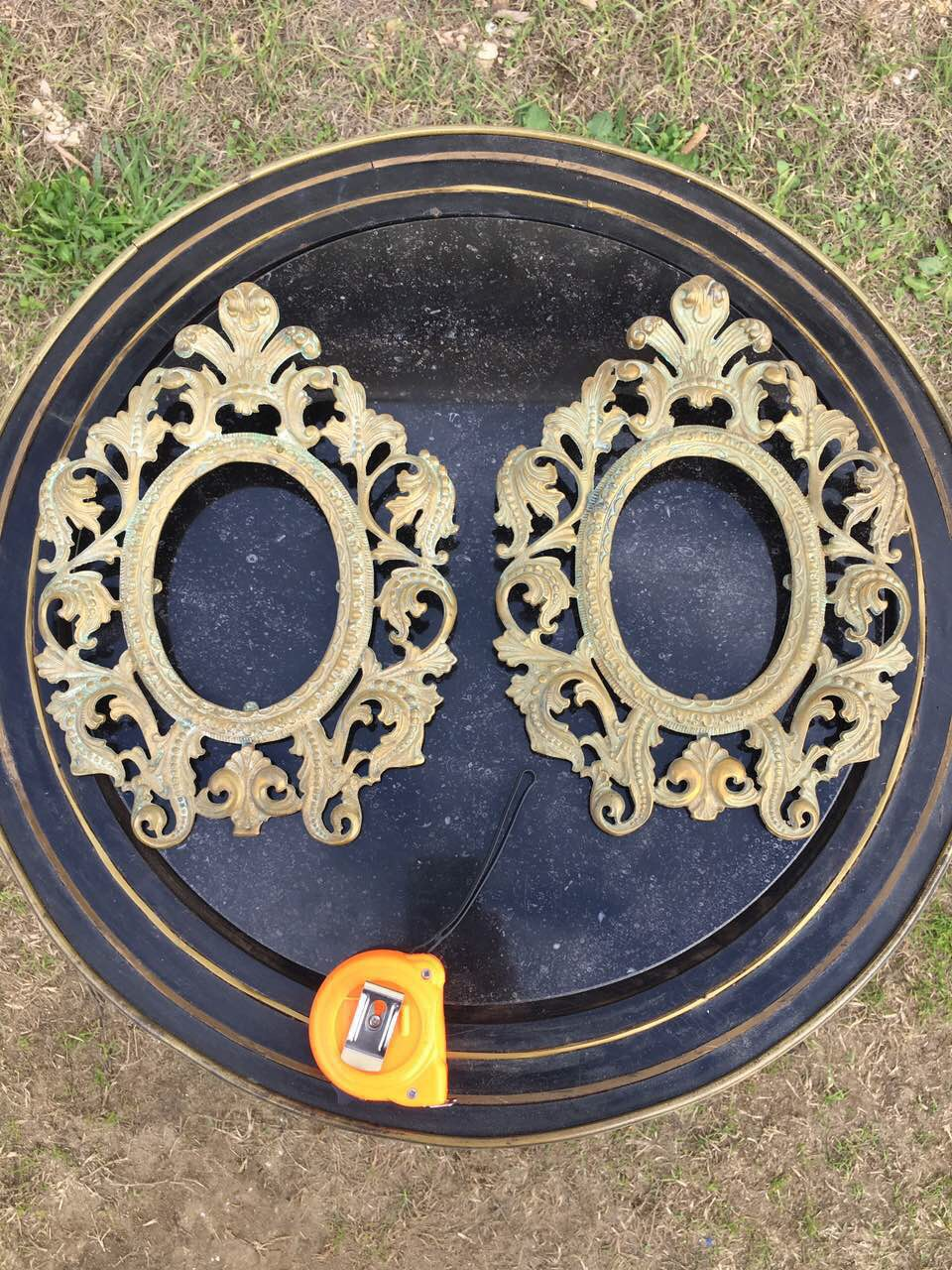Антикварные пара бронзовых рамок 181210060