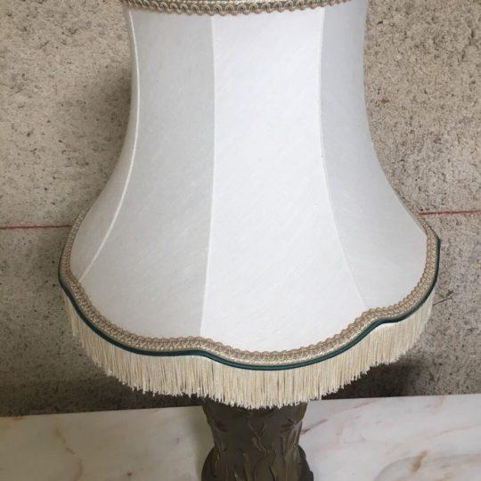 Винтажная бронзовая лампа с абажуром 180717050У