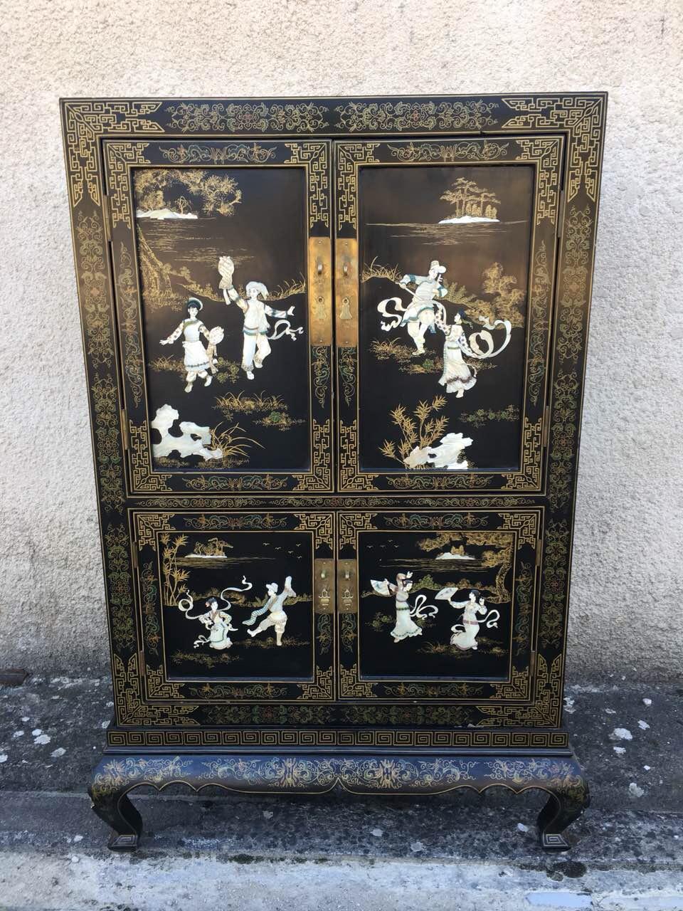 Винтажный шкафчик в стиле Шинуазри 180418004