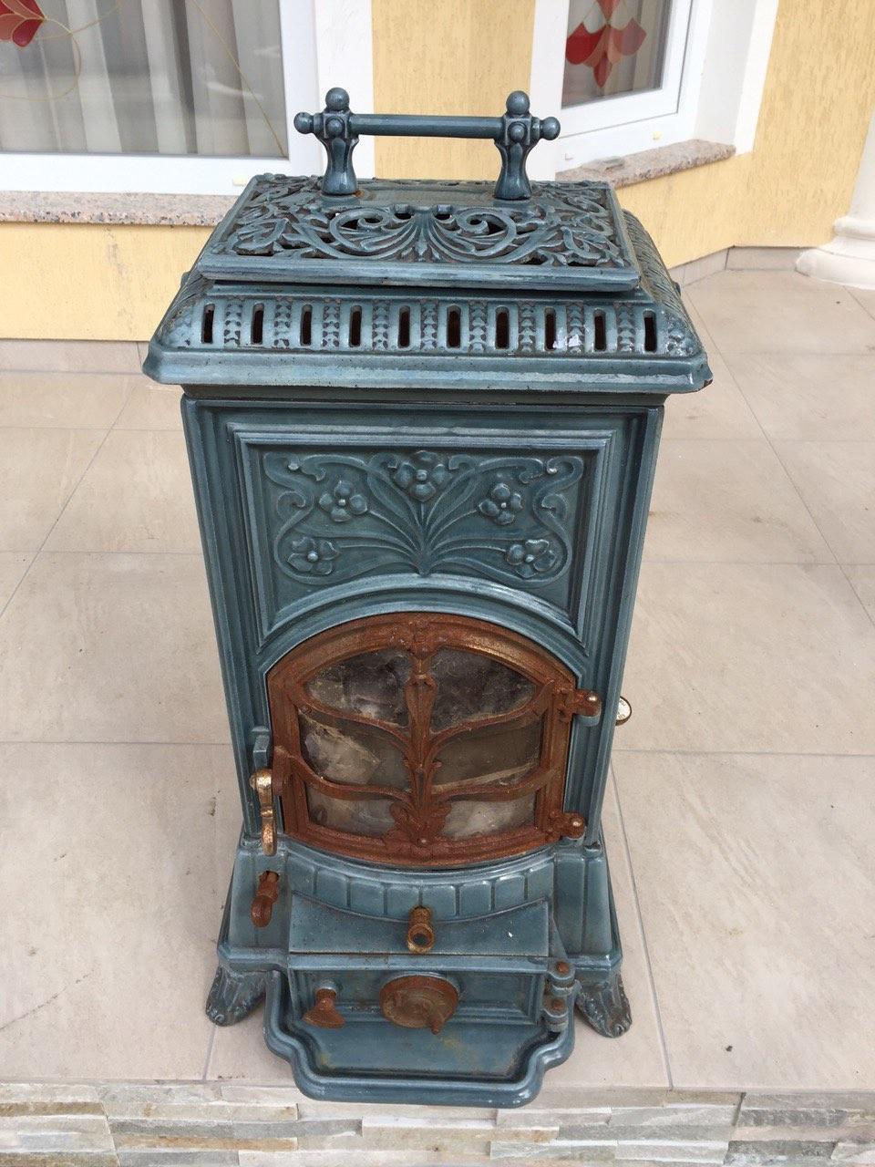 Антикварная эмалевая печь в стиле Арт-Нуво 160305001