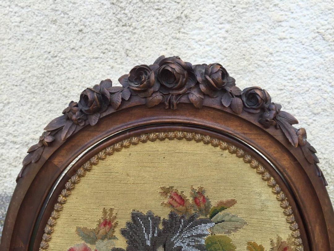 Антикварный вращающийся каминный экран в стиле Ренесанс