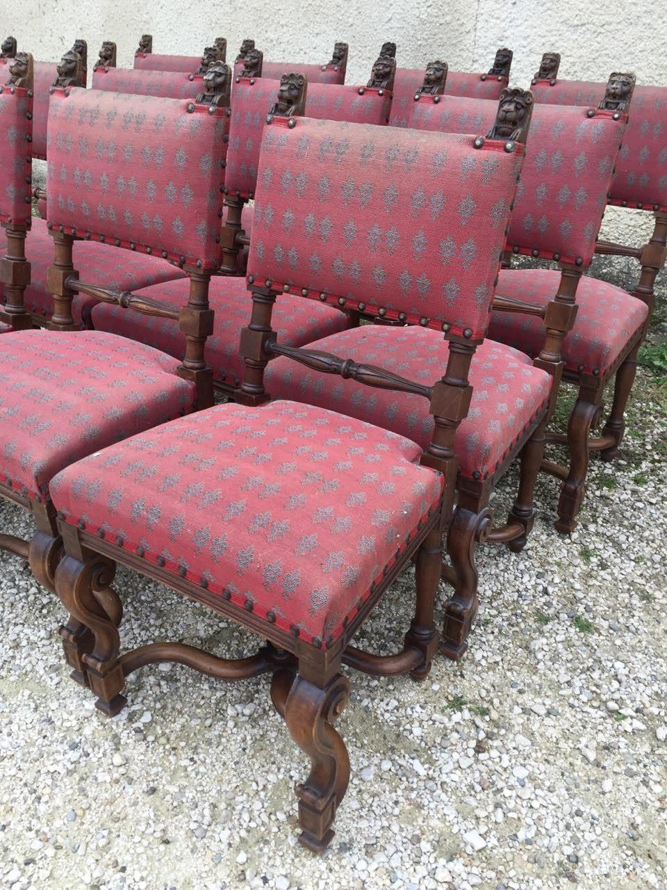 Антикварный набор из 12 стульев в стиле Ренесанс 151004066