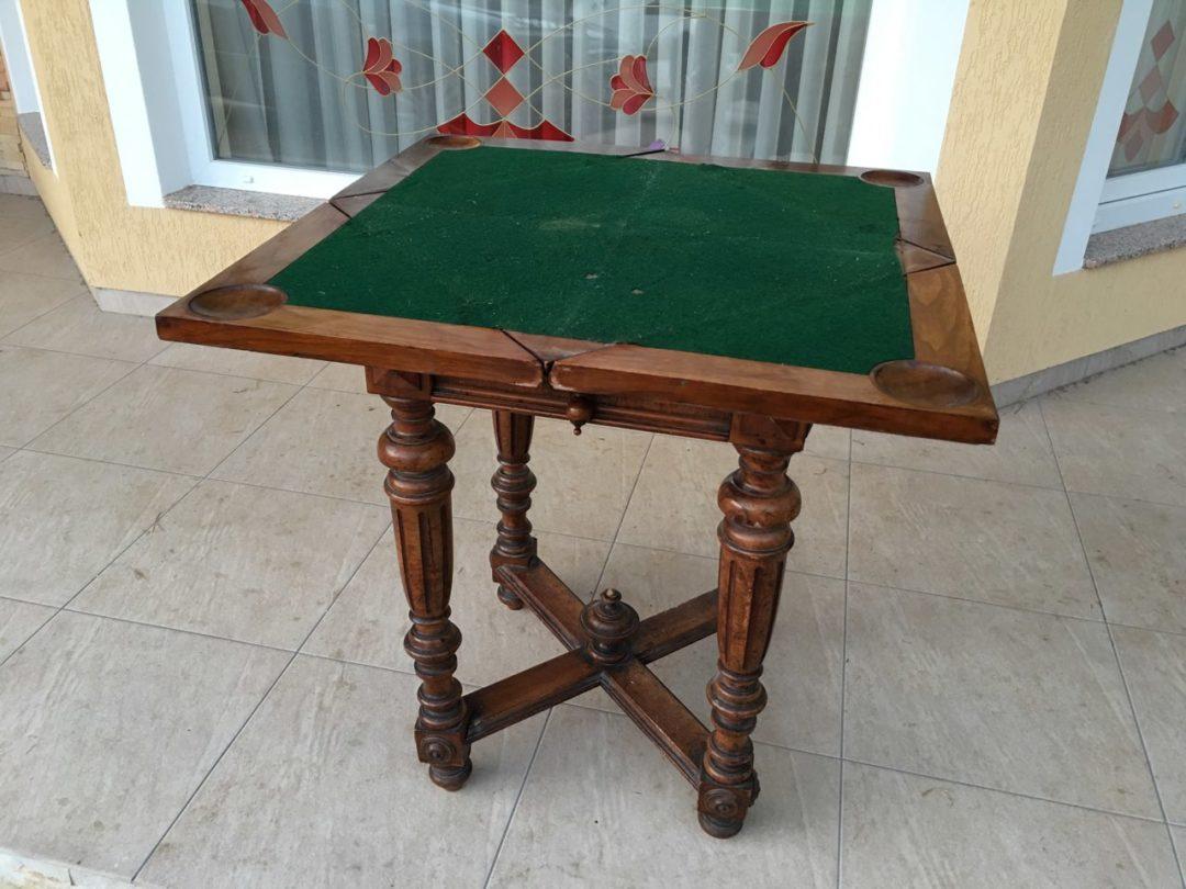 Антикварный игровой столик с вращающейся столешницей 171018003