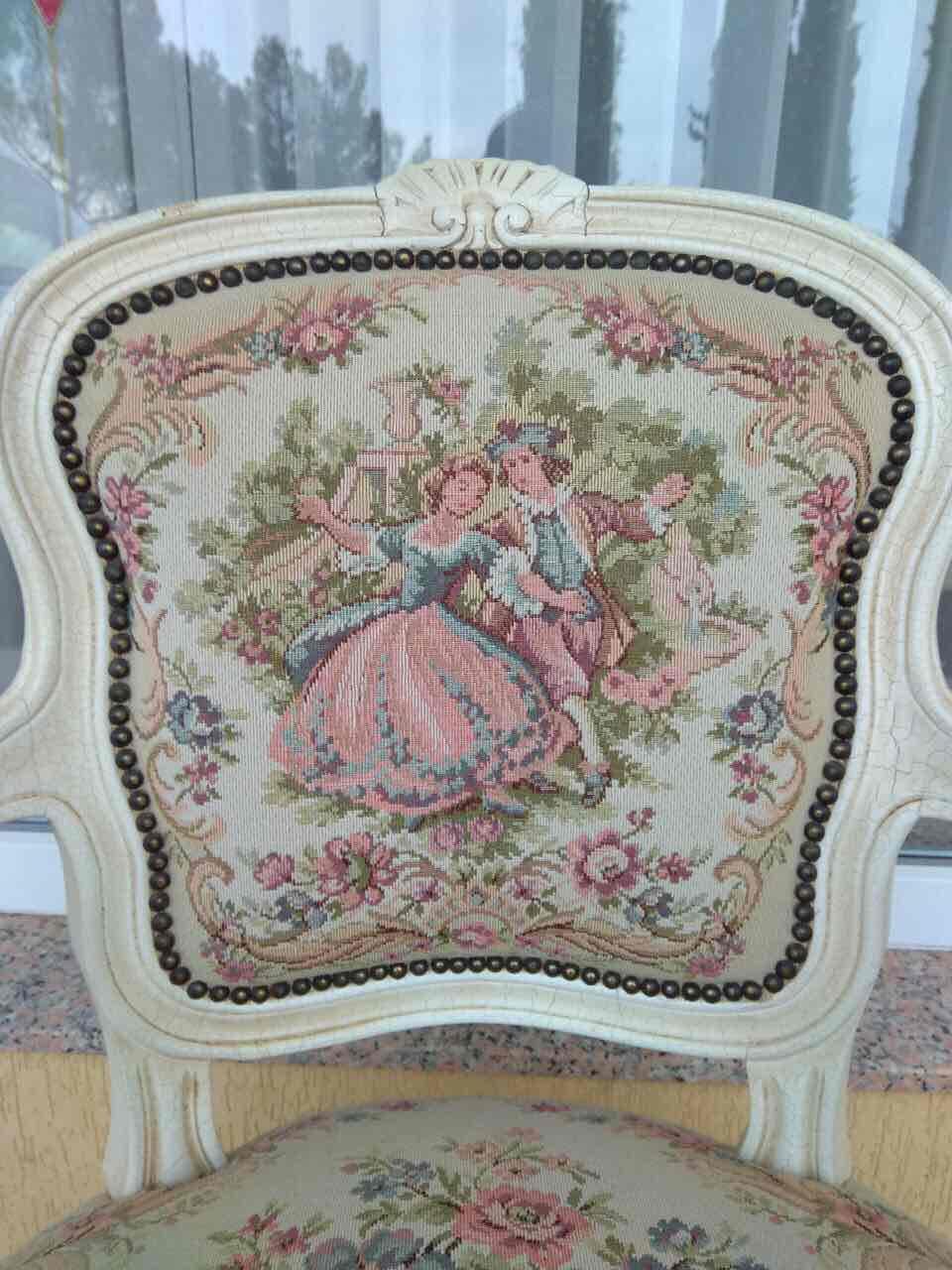 Антикварное кресло с гобеленом 171210061