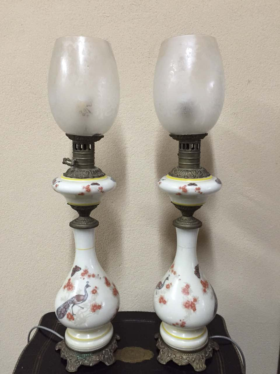 Антикварные парные лампы 171210