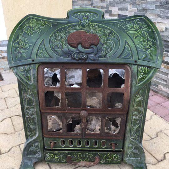 Антикварная эмалированная печь 180102042У