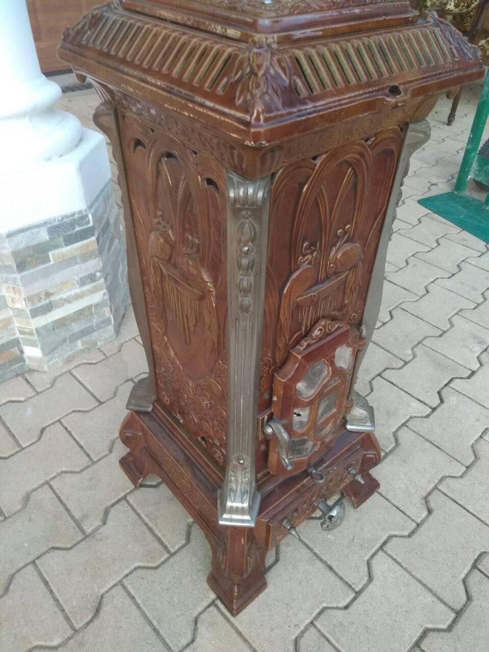 Антикварная эмалированная печь в стиле Ар Нуво 171228002