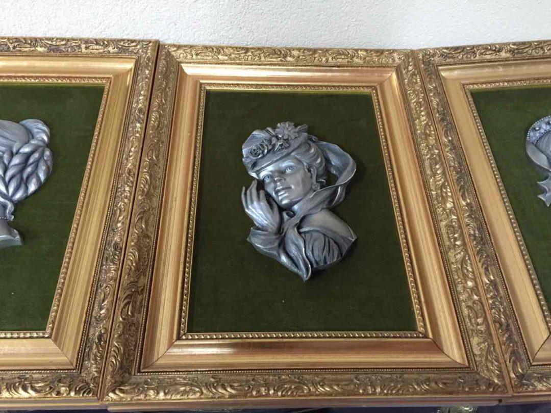 Винтажные картины из олова 171210К