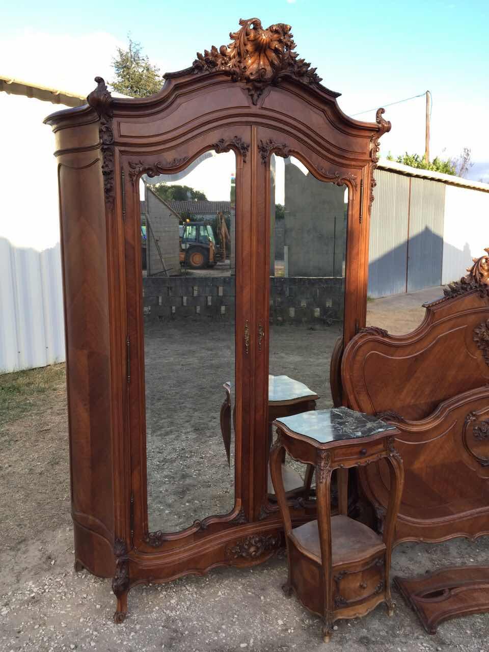 Антикварная кровать в стиле Рококо 1710240001