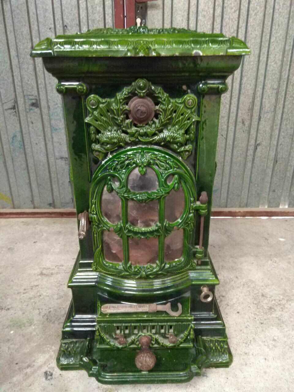 Антикварная эмалированная печь 171220002У