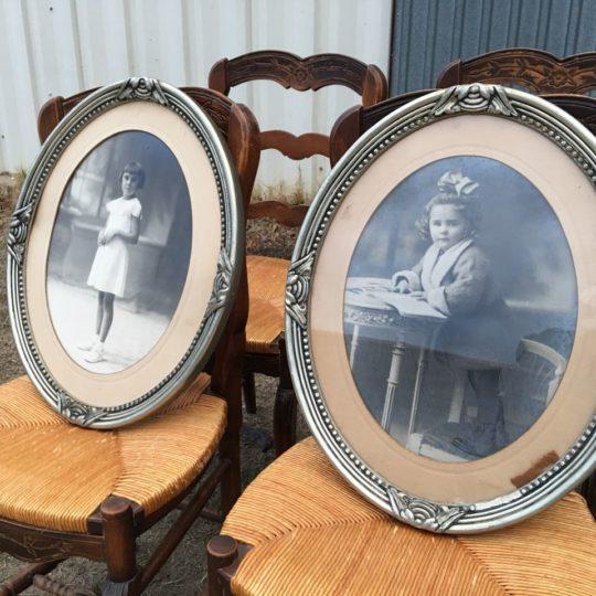 Антикварная пара рамок с фото