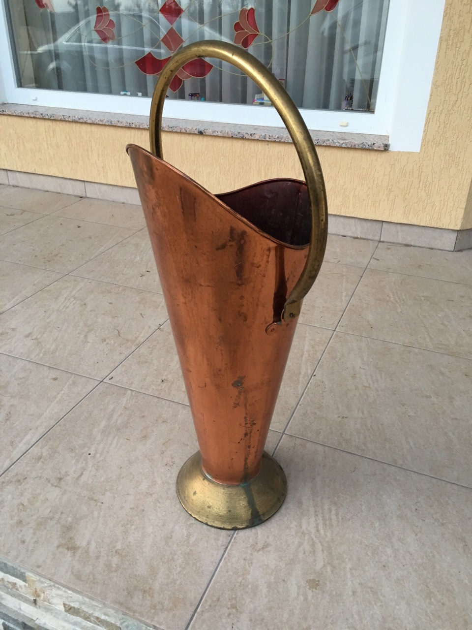 Винтажная медная подставка для зонтов 171018060