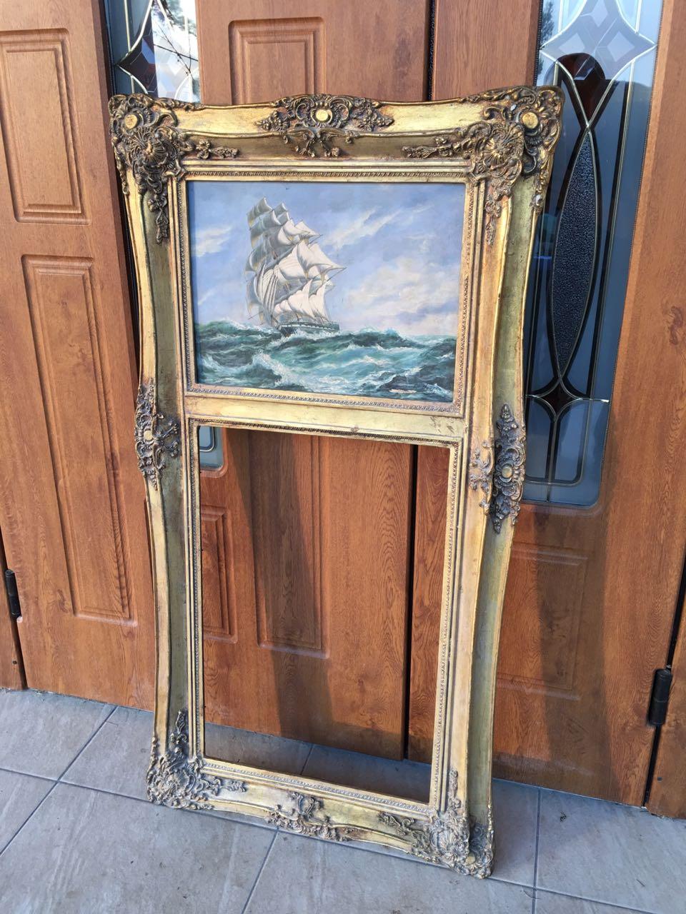 Антикварная надкаминная рама с картиной 171018001