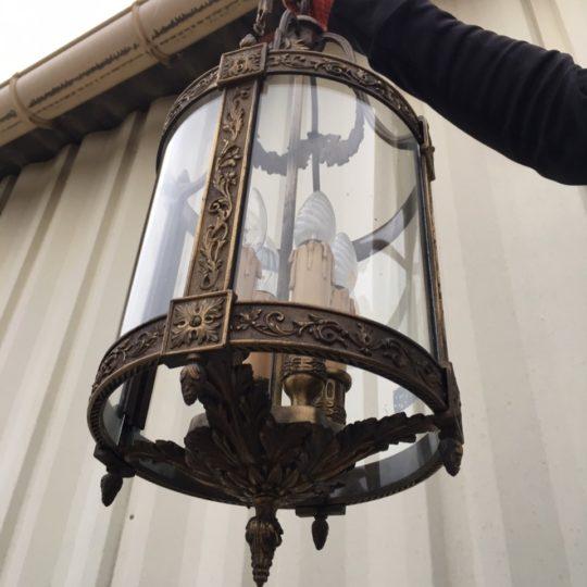 Антикварный бронзовый фонарь 180225002