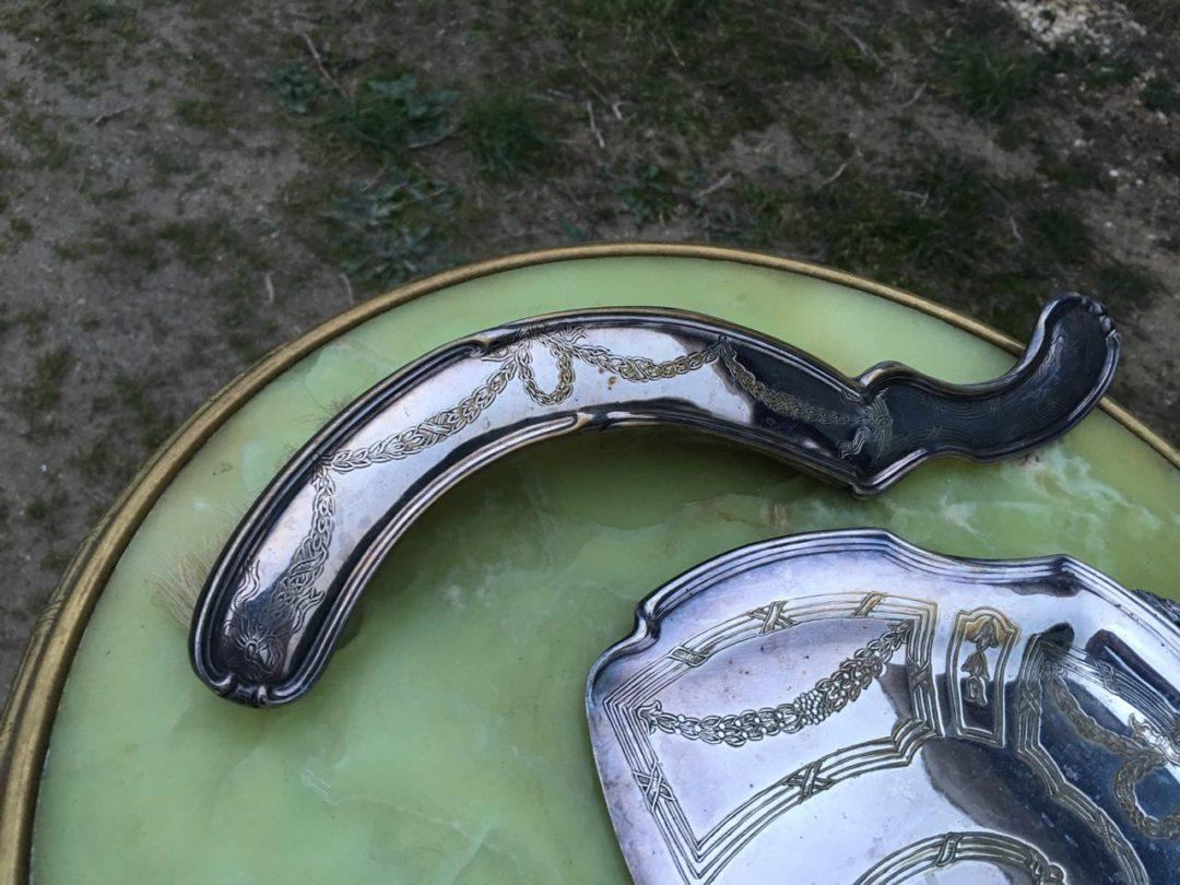 Антикварный совок с веником для крошек 180225