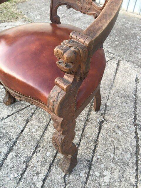 Антикварный кабинетное кресло
