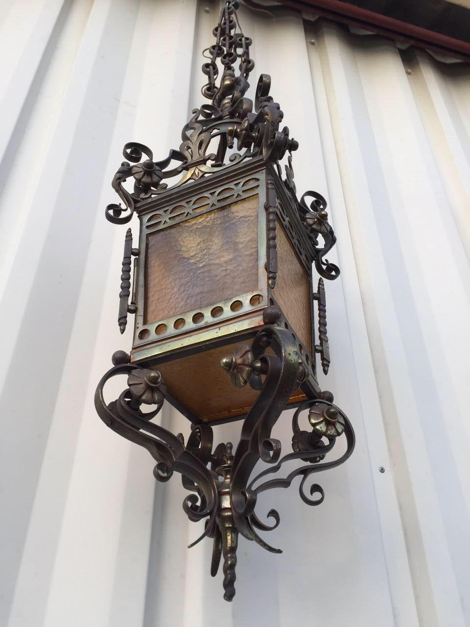 Антикварный бронзовый фонарь 20170318004