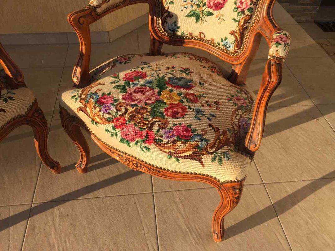Антикварные парные кресла в стиле Прованс 20170417034