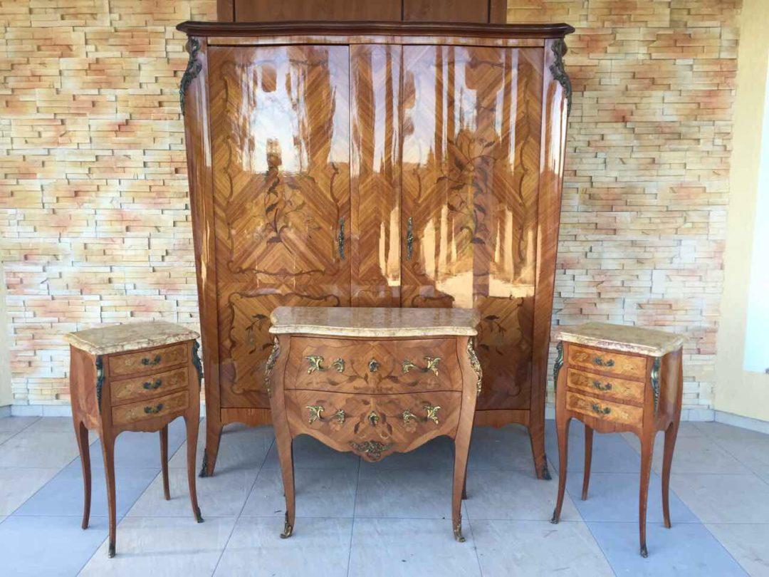 Винтажный спальный гарнитур в стиле Луи XV 20170424008