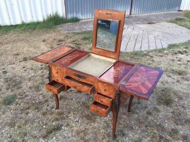 Антикварный дамский стол в стиле Луи XV 20170701005