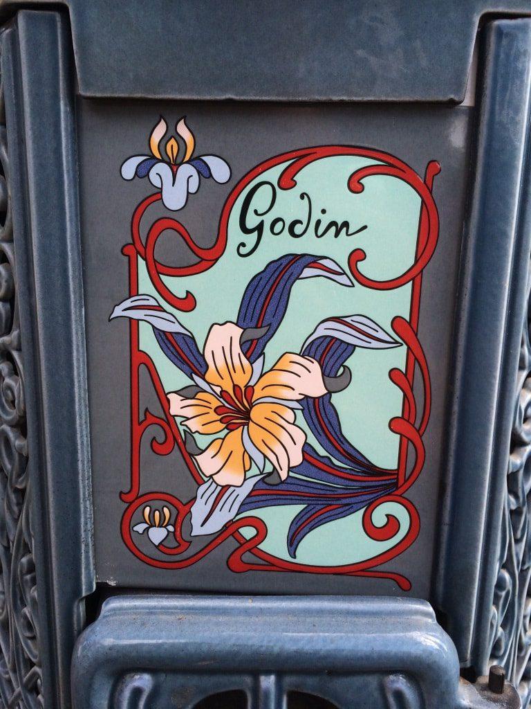 Печь под старину марки Godin